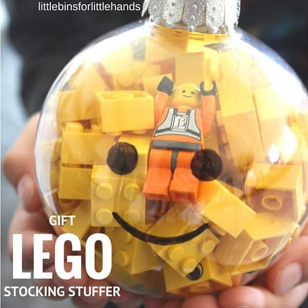 LEGO ornament gift and stocking stuffer