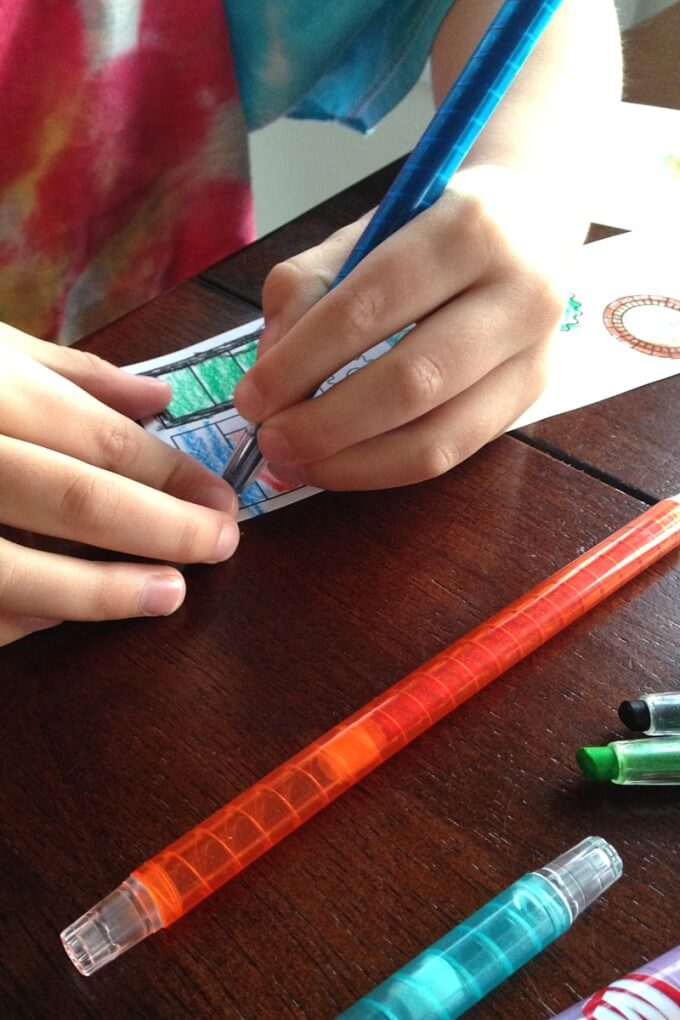 Building Droids Coloring Sheets and Fine Motor Skills STEAM Activity
