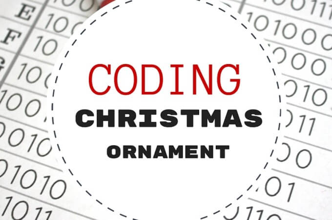 Christmas Coding Activity STEAM Ornament