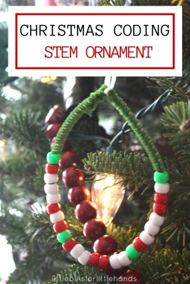 Christmas Coding Activity Ornament Binary Alphabet Bead Ornament