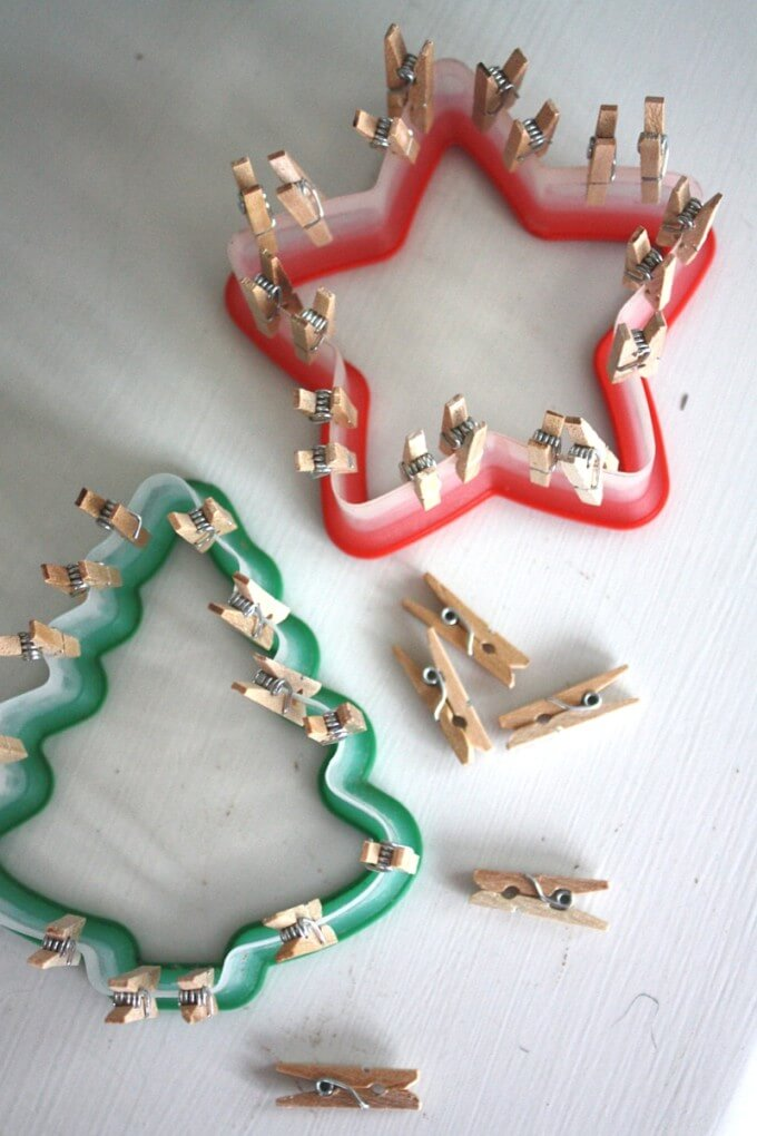 Christmas Fine Motor Activities with Mini Clothespins
