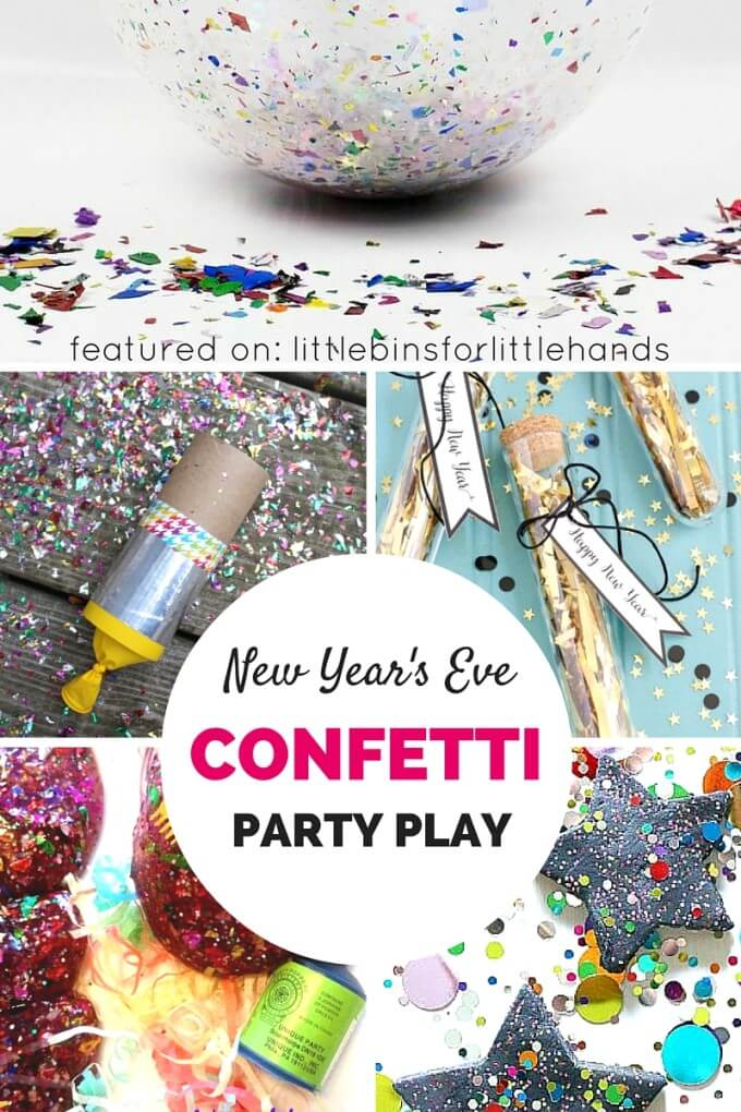 Confetti Party Ideas for Play New Year's Eve and New Year's Day