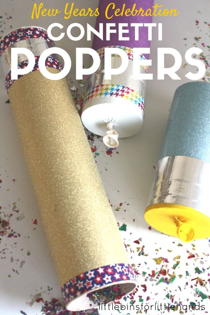 Confetti Poppers for Kids New Years Party Ideas