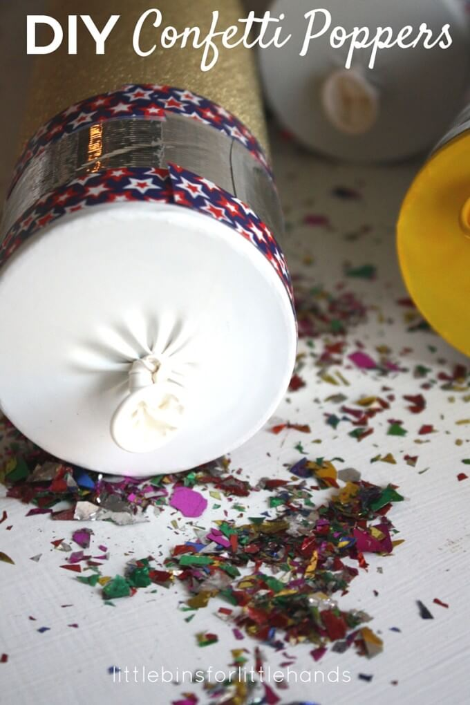DIY Confetti Poppers for Kids