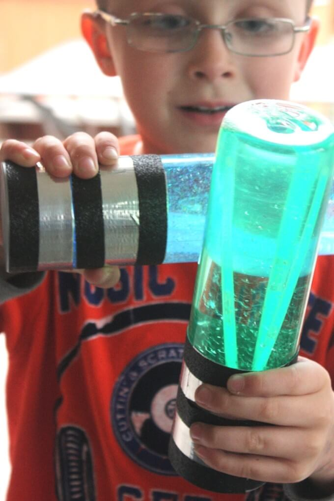 Easy Star Wars Glow In the Dark Light Saber Sensory Bottles