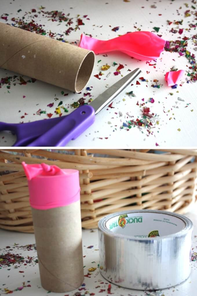 How to make confetti poppers for Kids parties