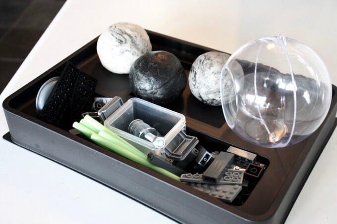Death Star Star Wars Play Dough Kit or Tray