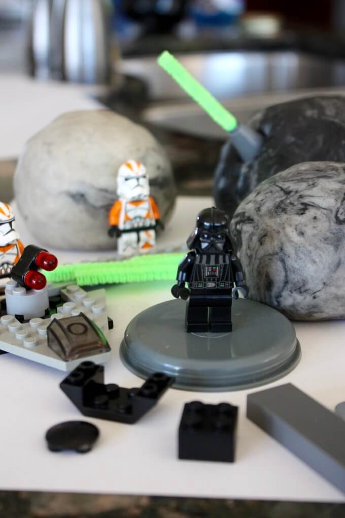 Star Wars Play Dough Darth Vader Death Star Activity