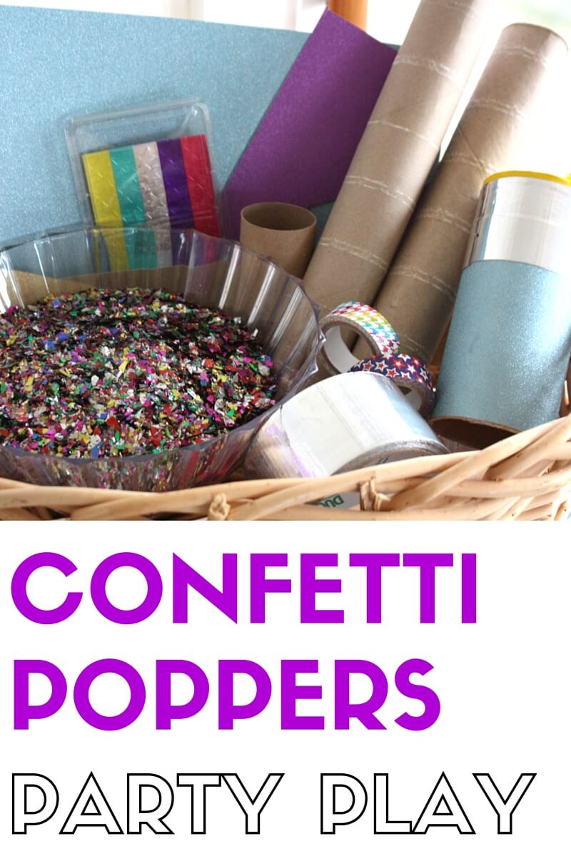 invitation to make confetti poppers for new years eve party