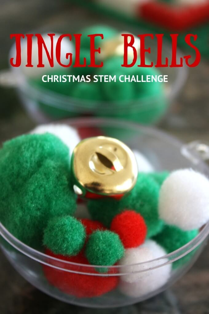 Jingle Bell STEM Challenge for kids