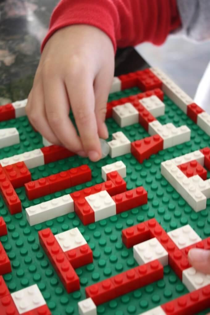 LEGO Christmas Marble Maze