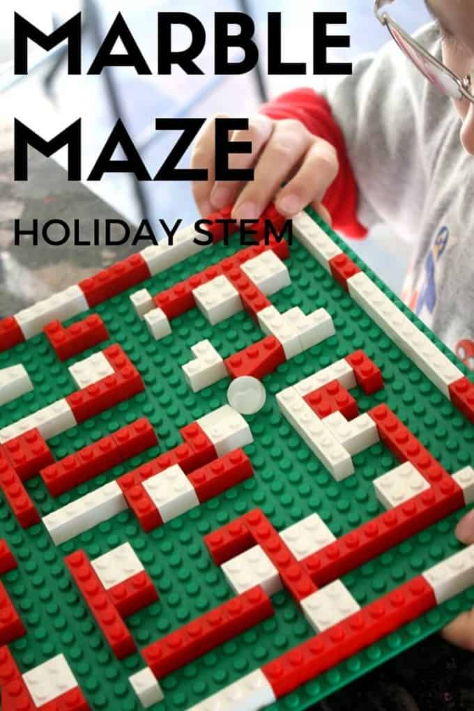 LEGO Christmas Marble Maze STEAM Christmas Countdown