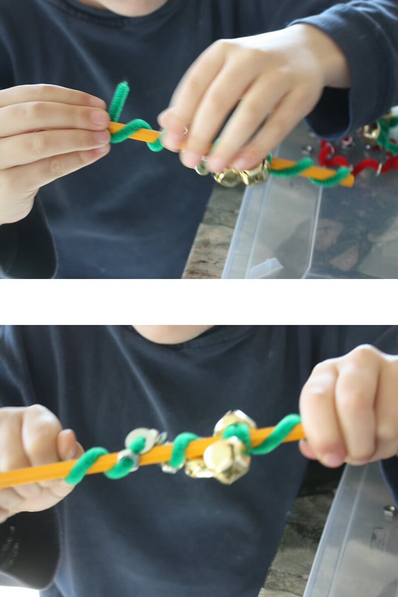 Making magnetic ornaments with pipecleaners
