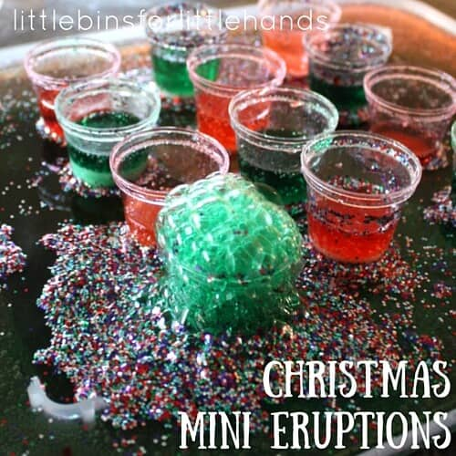 Mini Christmas Baking Soda Eruptions Holiday Science and STEM