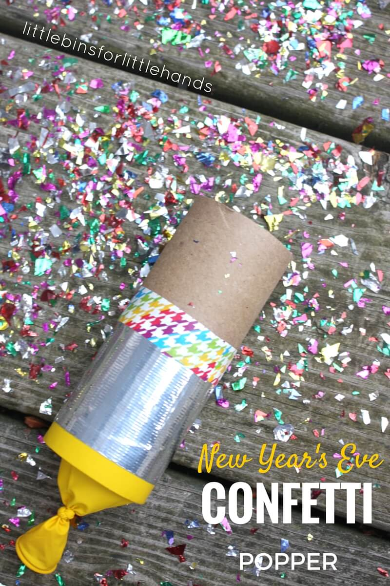 Confetti Poppers Craft for New Years Eve Kids Party Activities