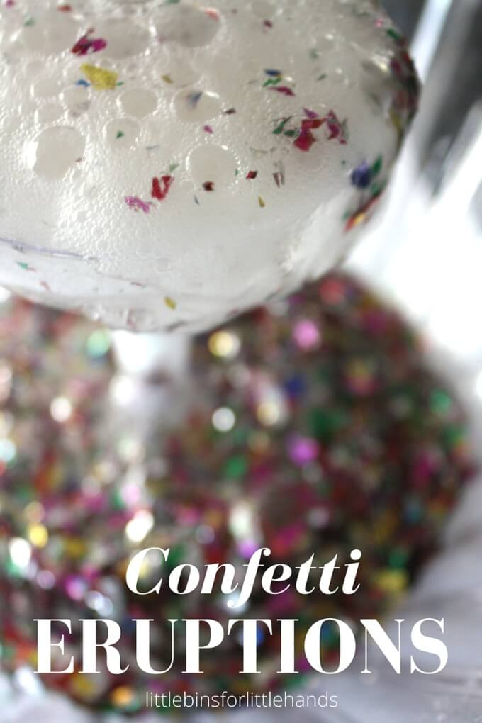 New Years Eve Science Activity Baking Soda Confetti Eruptions