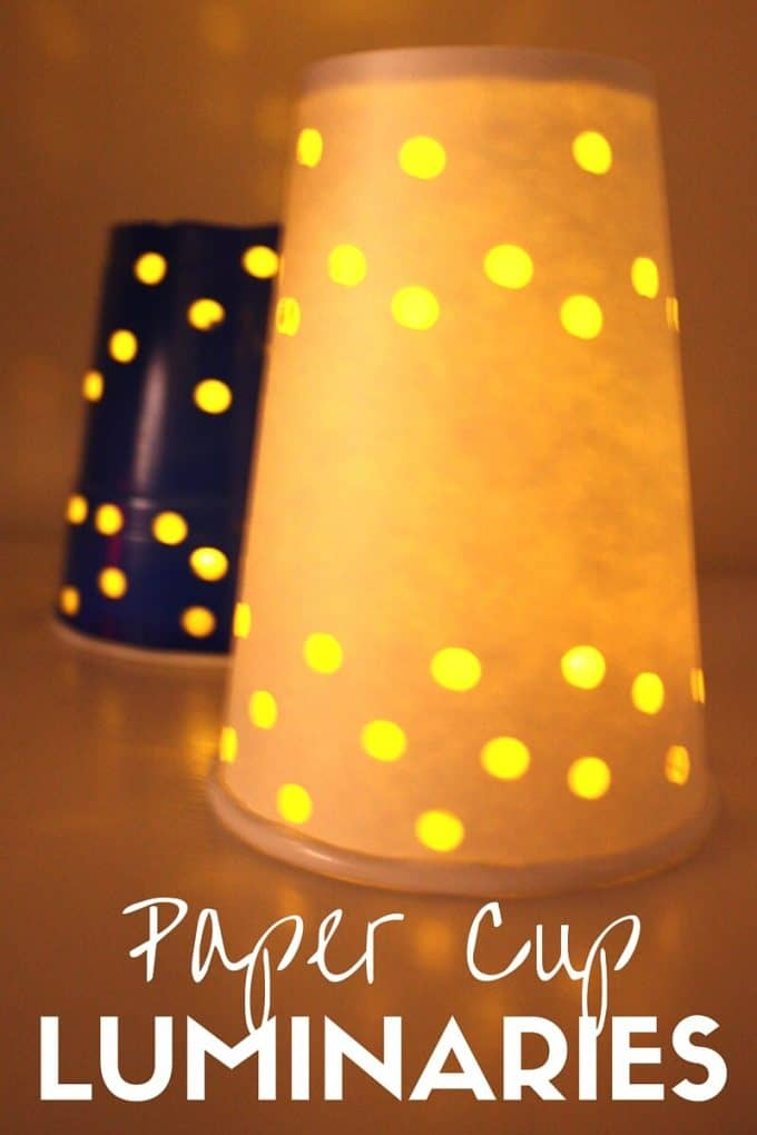Paper Cup Luminaries for Kids To Make for Winter Solstice Summer Solstice New Years