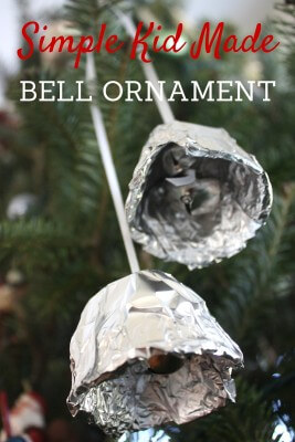 Polar Express Tin Foil Bell Ornament Inspired by Book.