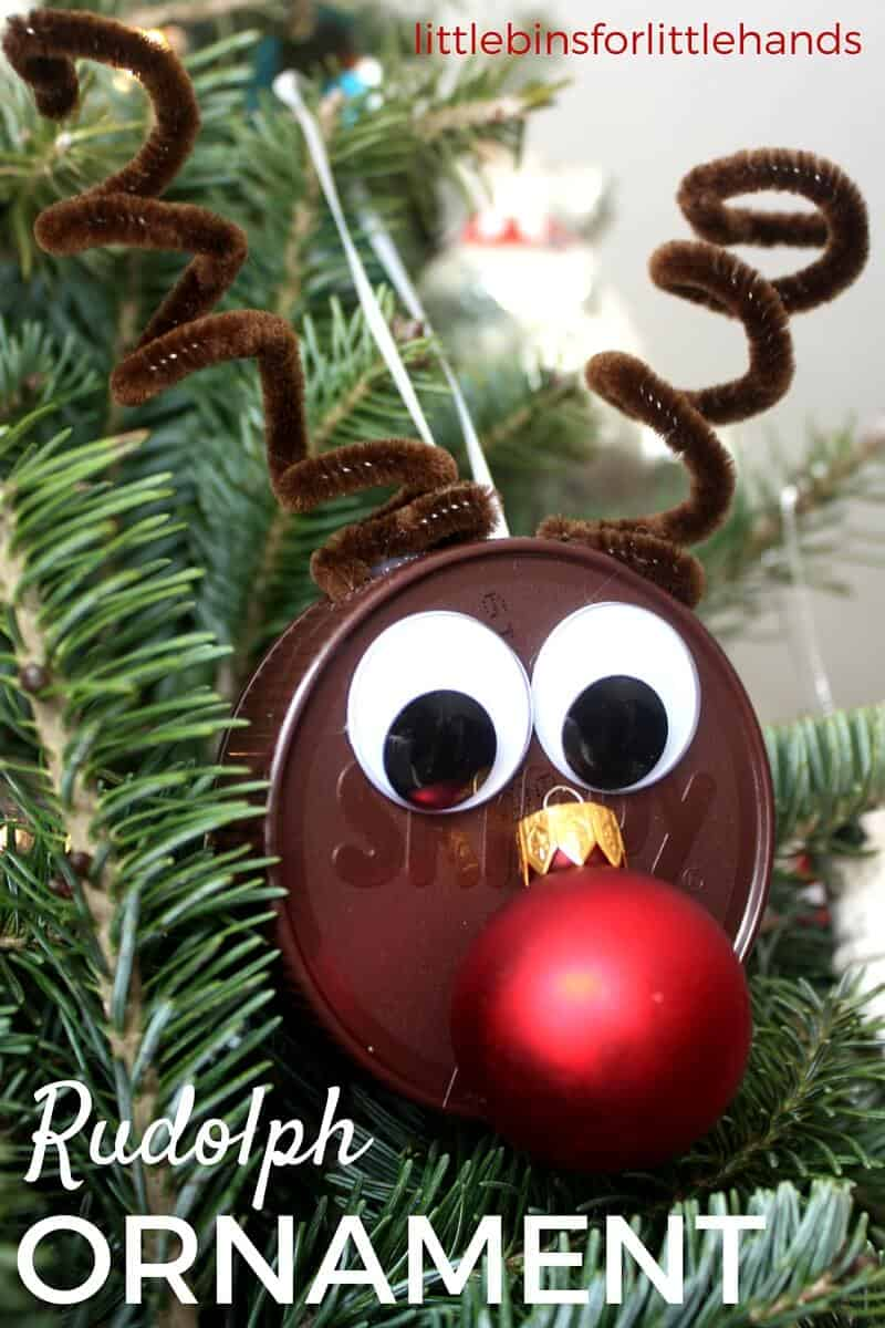 Easy Reindeer Ornament Craft | Little Bins for Little Hands