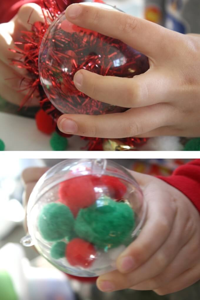 Jingle Bell STEM Shaking Ornaments to test sound
