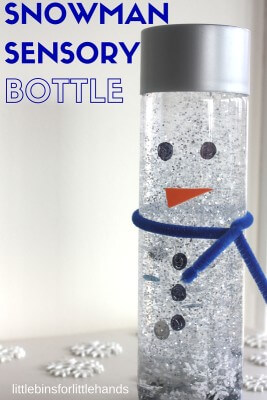 Snowman Sensory Bottle Melting Snowman Winter Activity