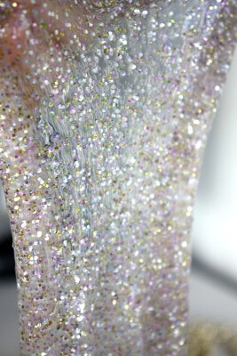 Sparkling and glitter party slime