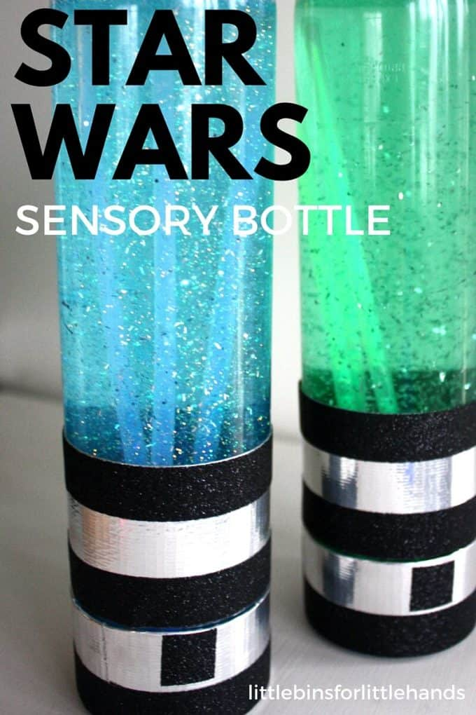 Star Wars Activity Light Saber Sensory Bottles Glow Dark
