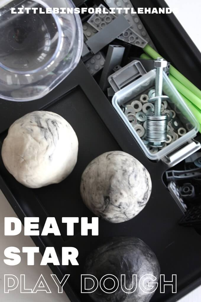 Star Wars Play Dough Death Star Building Activity