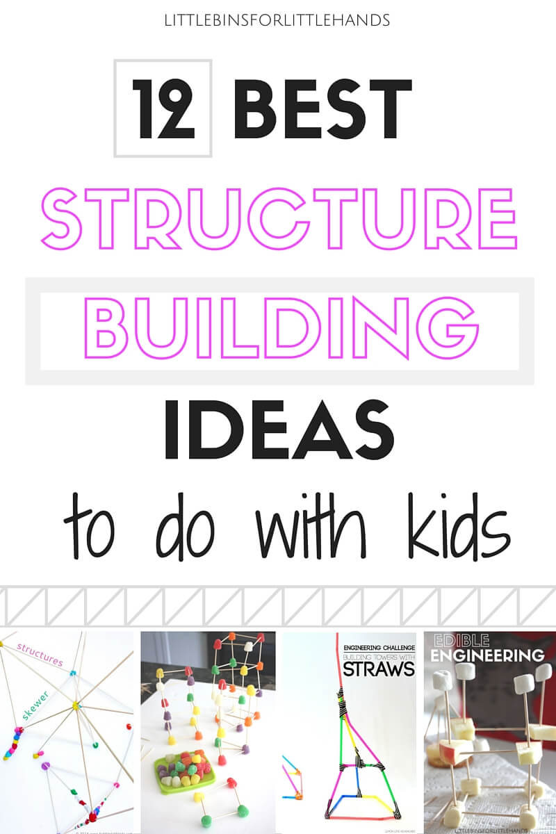 Best Structure Building Activities to do with kids. Awesome engineering and kids STEM activities for building structures.
