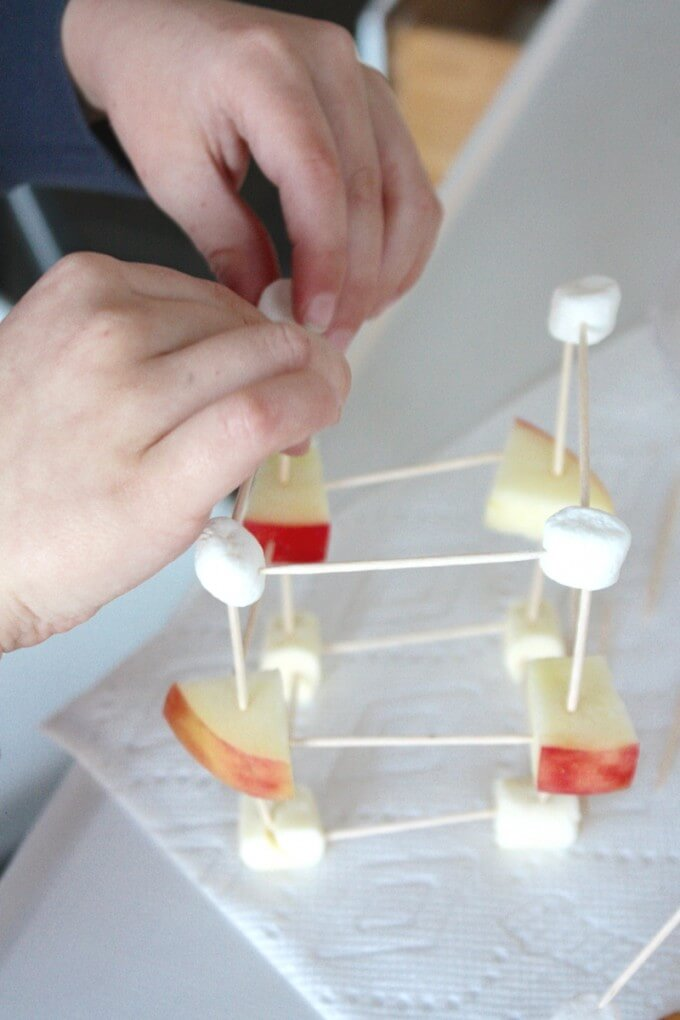 Building edible structures for STEM activity