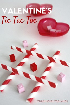 DIY Homemade Valentines Tic Tac Toe Game