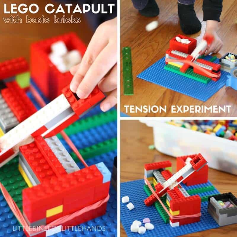 Build A Lego Catapult Little Bins For Little Hands