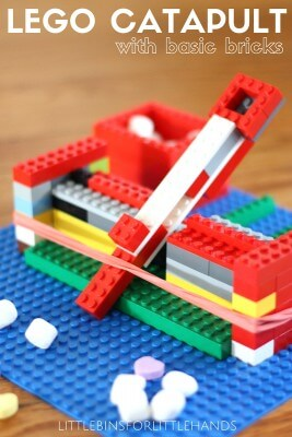 Easy LEGO Catapult and Tension Science Experiment for Kids