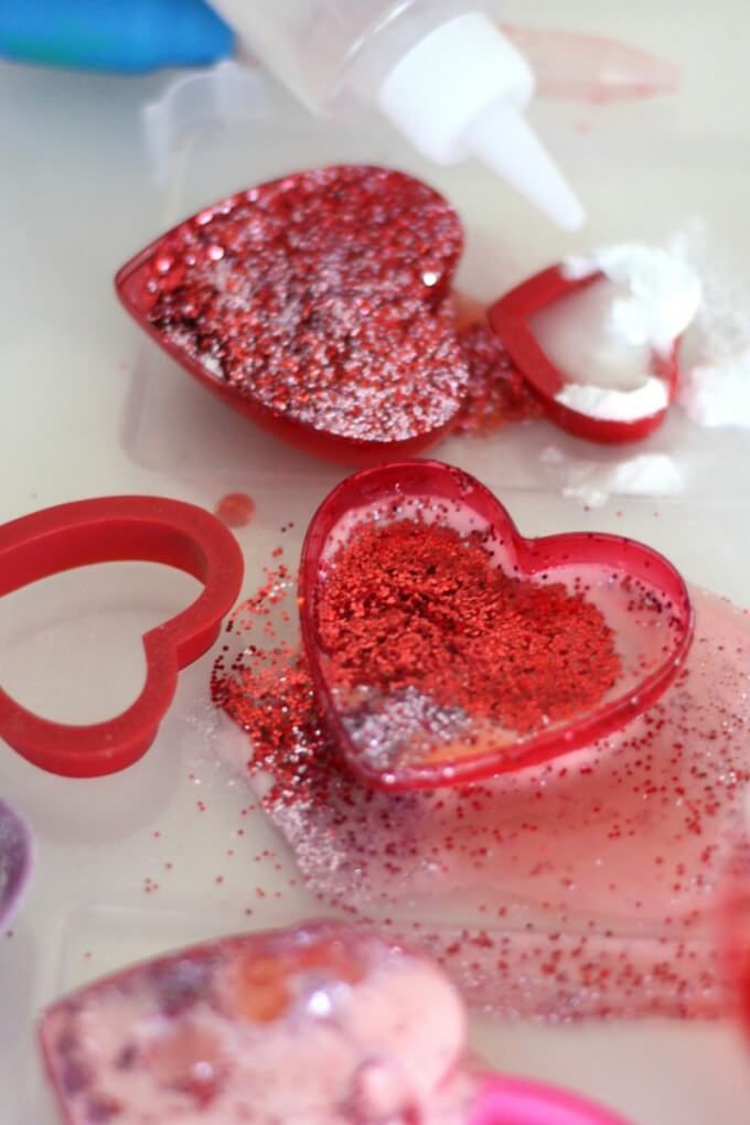 Glitter Potion Mixing Valentines Day Activity for Kids