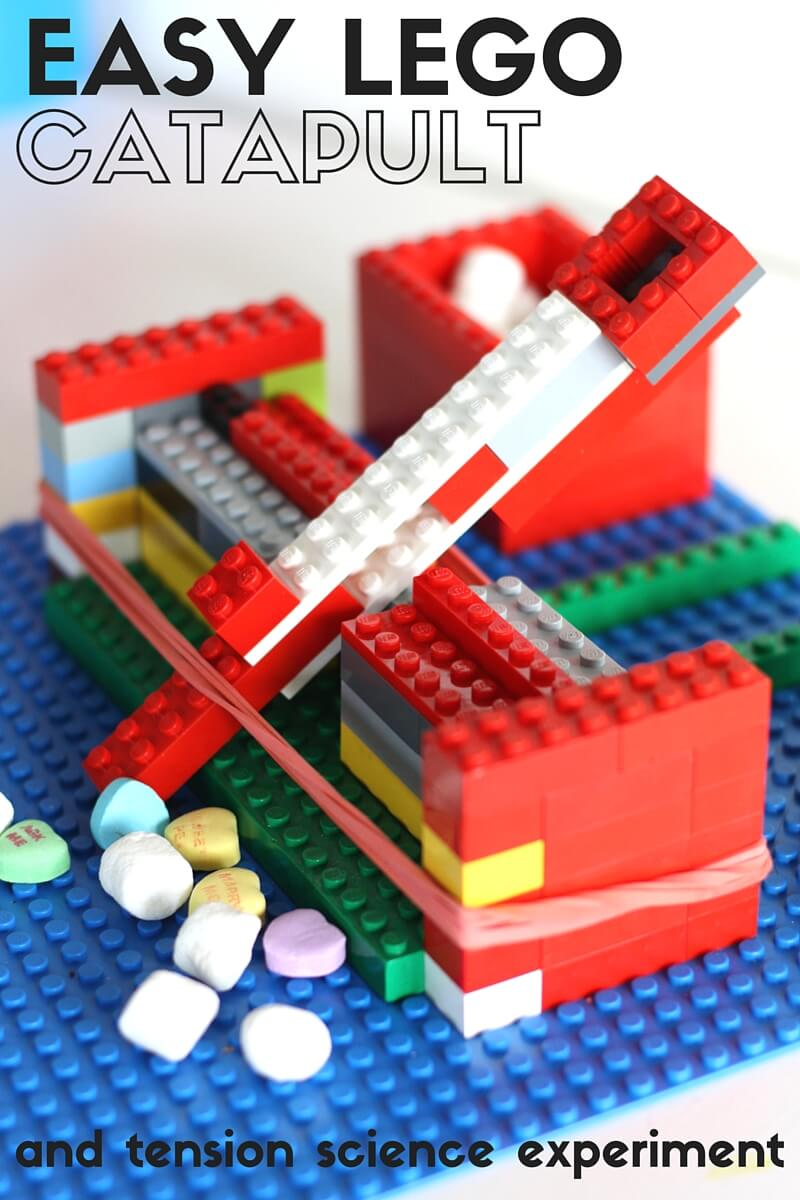 Learn how to build an easy LEGO catapult using your own LEGO collection. Our catapult building STEM activities also makes a great physics activity for the kids to try! The best LEGO kids activities for kids of all ages to try.
