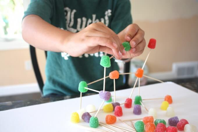 Building Structures with Gum Drops