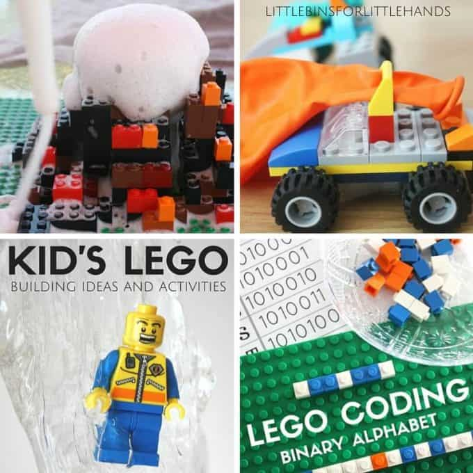 Kids LEGO activities and building ideas and STEM challenges