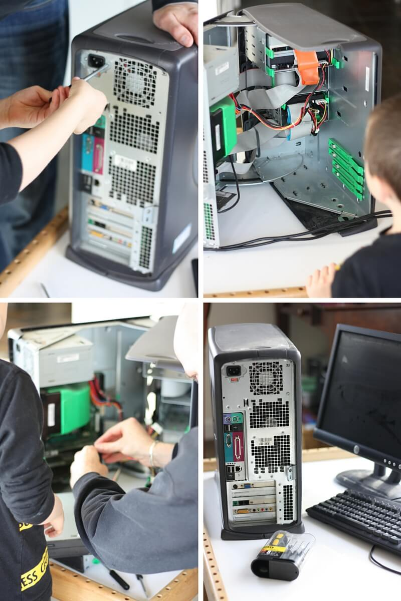 Kids Take Apart Computers Opening Up Computer Tower