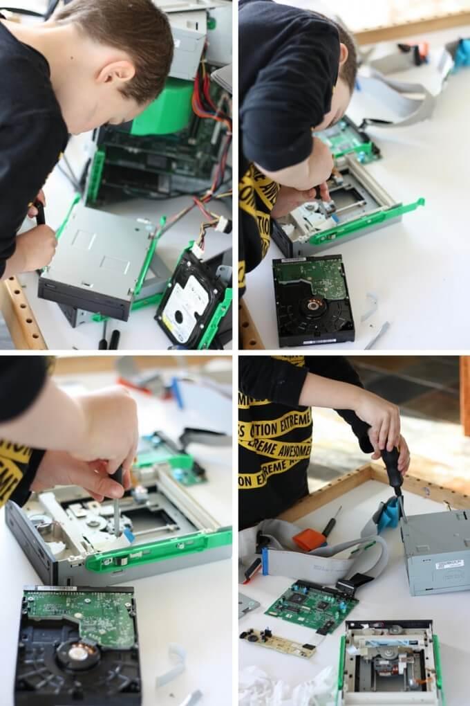 Kids Take Apart Computers Tinkering STEM