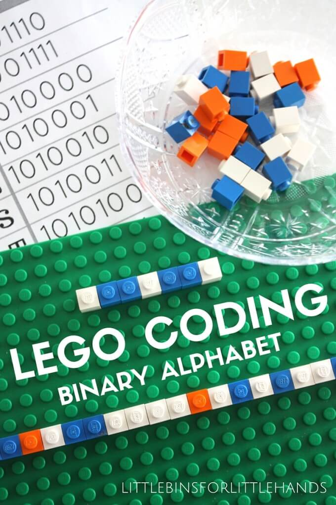 LEGO Computer Coding STEM Activity using Binary Alphabet