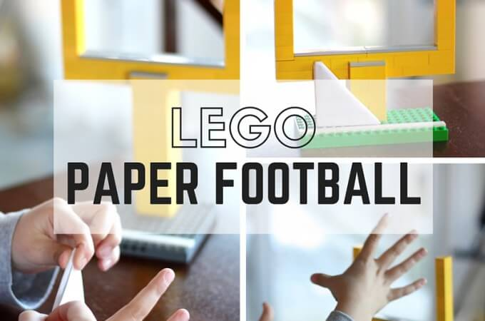Paper Football Game with LEGO Goal Posts