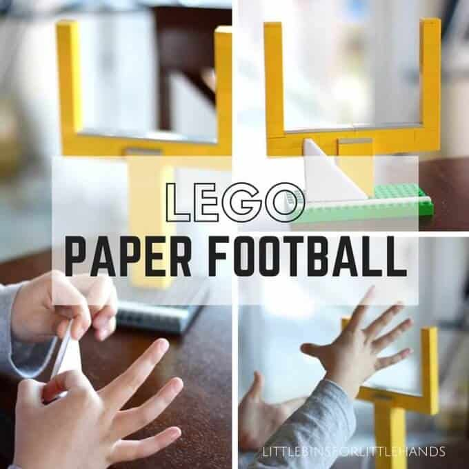 LEGO Paper Football Game for Kids Super Bowl Activity