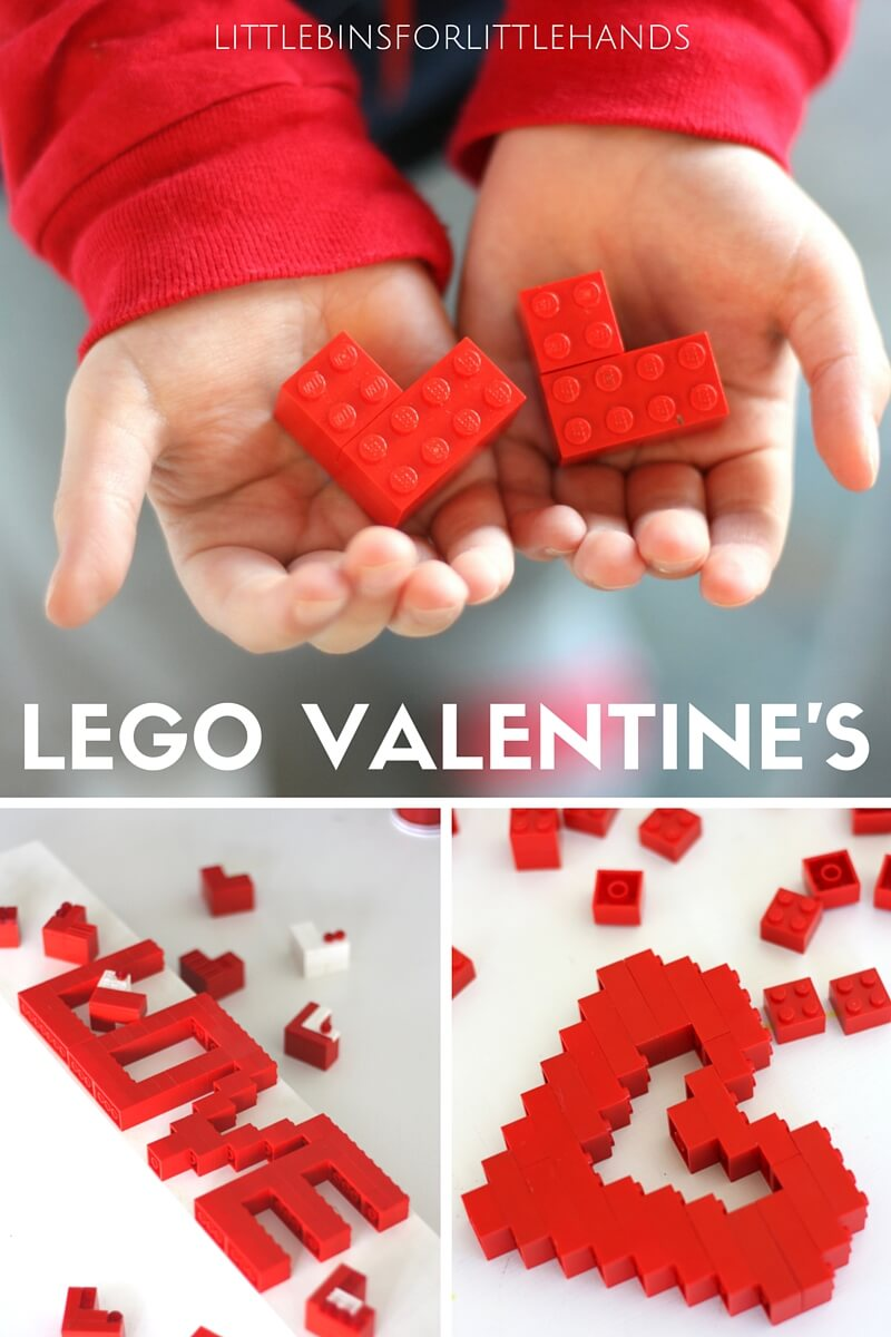 LEGO Heart Valentine's Day STEM Activity For Kids