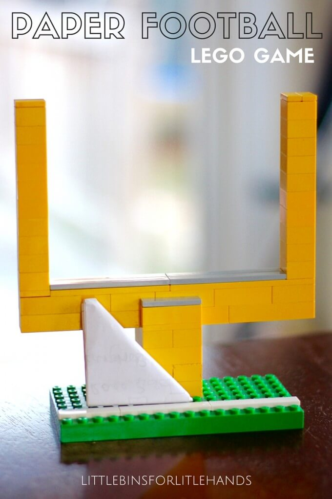 LEGO paper football game family super bowl activity