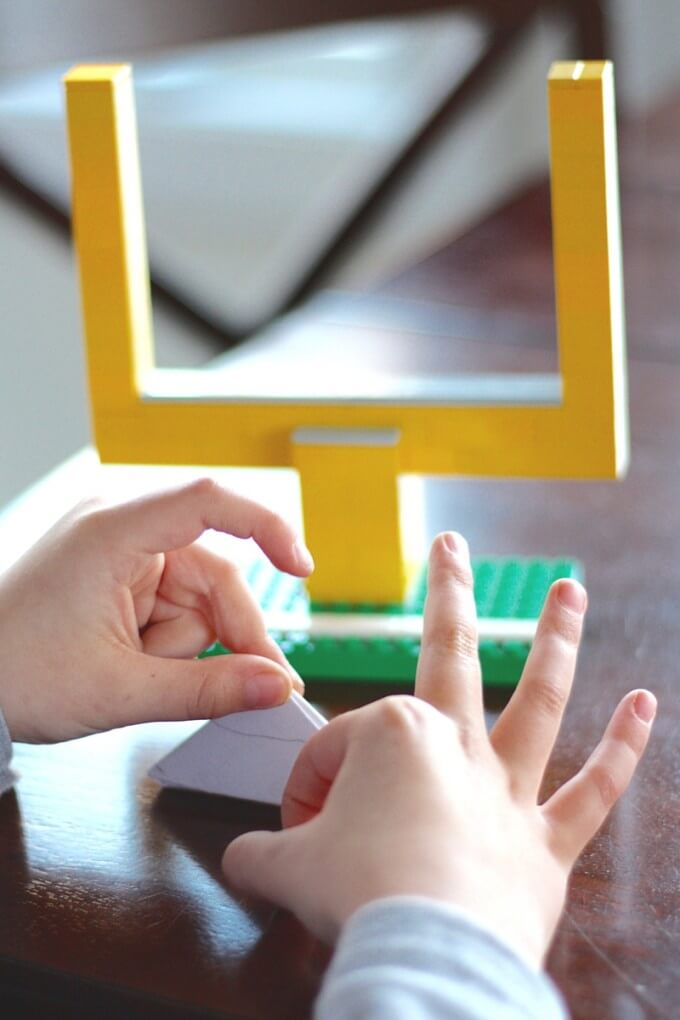 LEGO paper football game for kids and adults