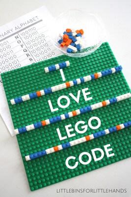 Lego Computer Coding Binary Alphabet