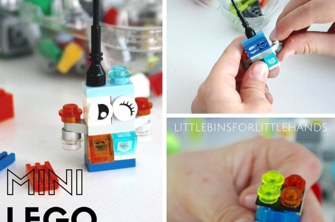 Building Mini LEGO Robots Fine Motor STEAM Activity