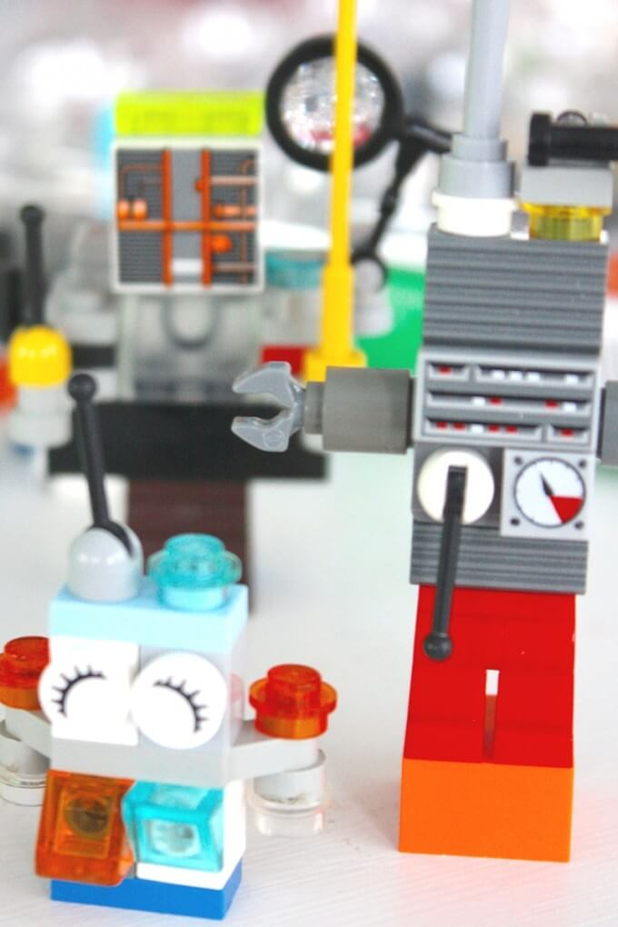 Mini LEGO robot family STEAm activity for kids