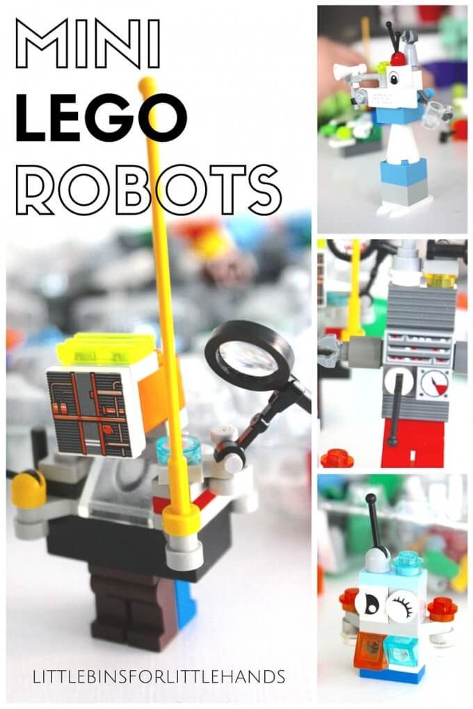 Building mini LEGO robots for a fine motor STEAM activity
