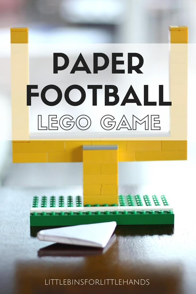 Paper Football Game with LEGO Goal Posts Screen Free Activity